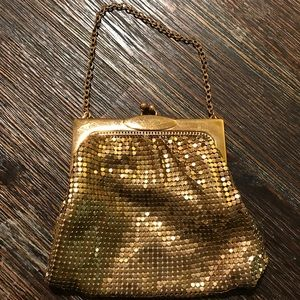 1950's Gold Whiting & Davis Wristlet Change Purse